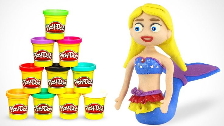 Disney Princess Anna and Elsa Frozen play doh stop motion animations funny videos for kids - YouTube