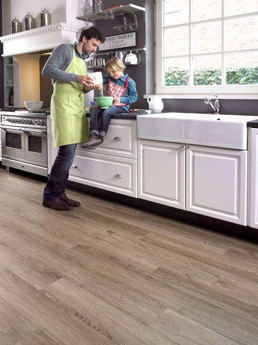 Best Authentic Oak Light Brown Plank White Cupboard Grey 400 x 300