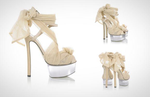 Fendi Tulle Embellished Suede Sandals