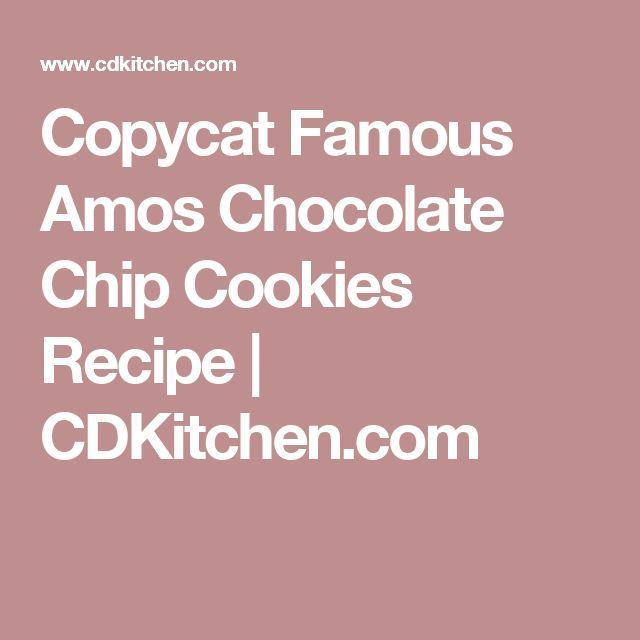 Copycat Famous Amos Chocolate Chip Cookies Recipe | CDKitchen.com