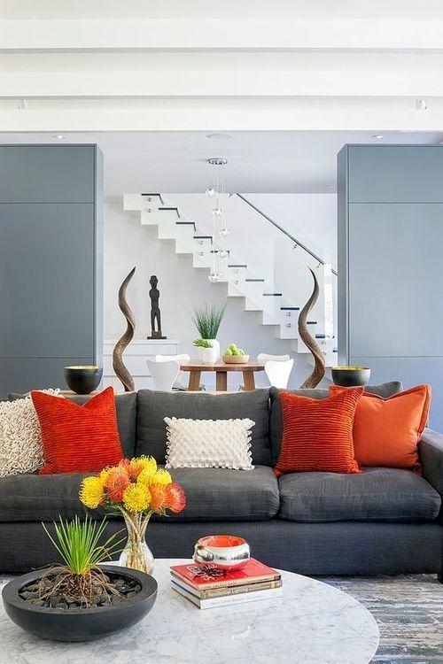 Grey And Orange Living Room best 25+ orange living rooms ideas only on pinterest | orange
