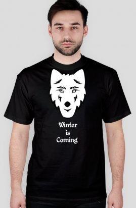 Koszulka inspirowana dewizą i godłem rodu Starków, z serialu Game of Thrones - Gra o Tron. Nadchodzi Zima! Cena: 39,99 zł #koszulki #GraOTron