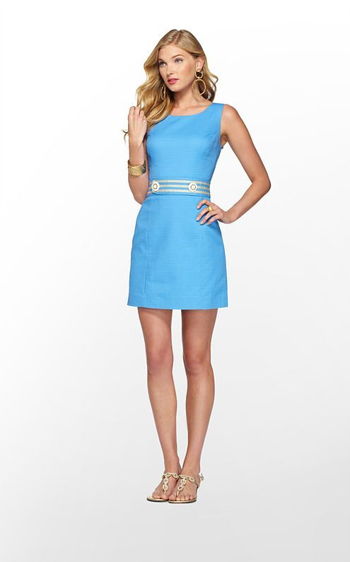 Lilly Pulitzer Kirkland Dress in Tide Blue. Would be perfect for UNC Game Day!