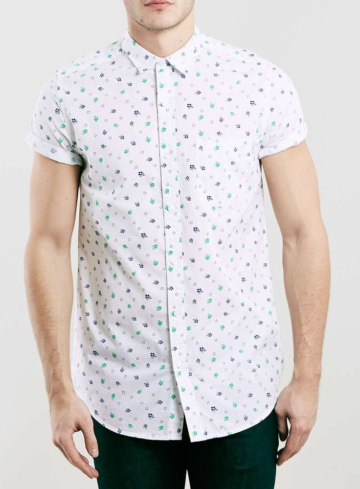 White Floral Ditsy Shirt