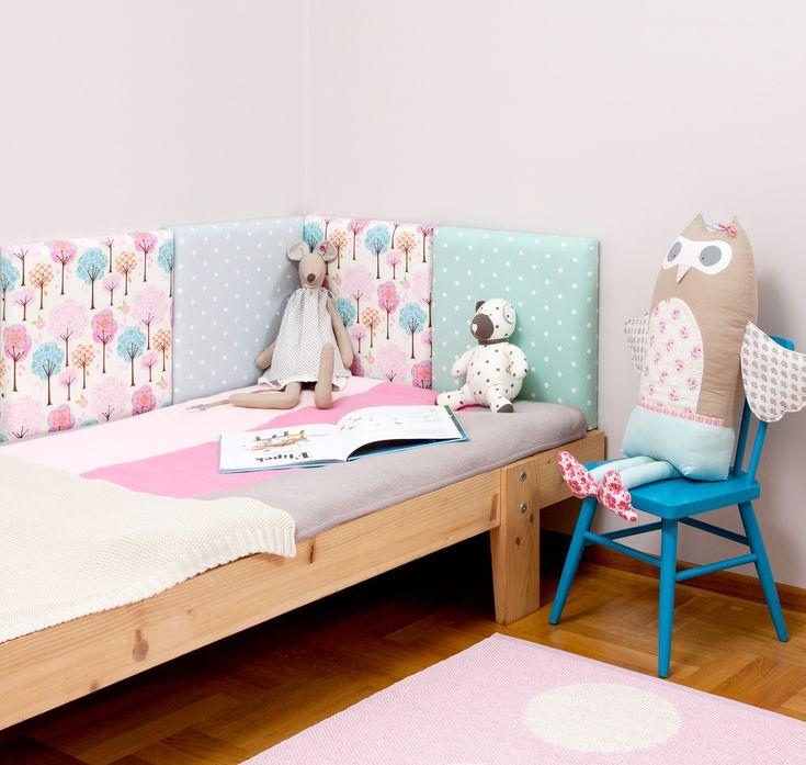 #madeforbed.com, modular #headboard, kid's room, patchwork, retro room, design