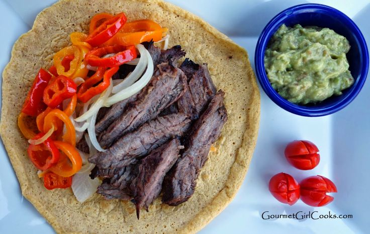 ... Grilled Beef Fajitas w/ Chipotle Lime Marinade w/ Grain-free Tortillas