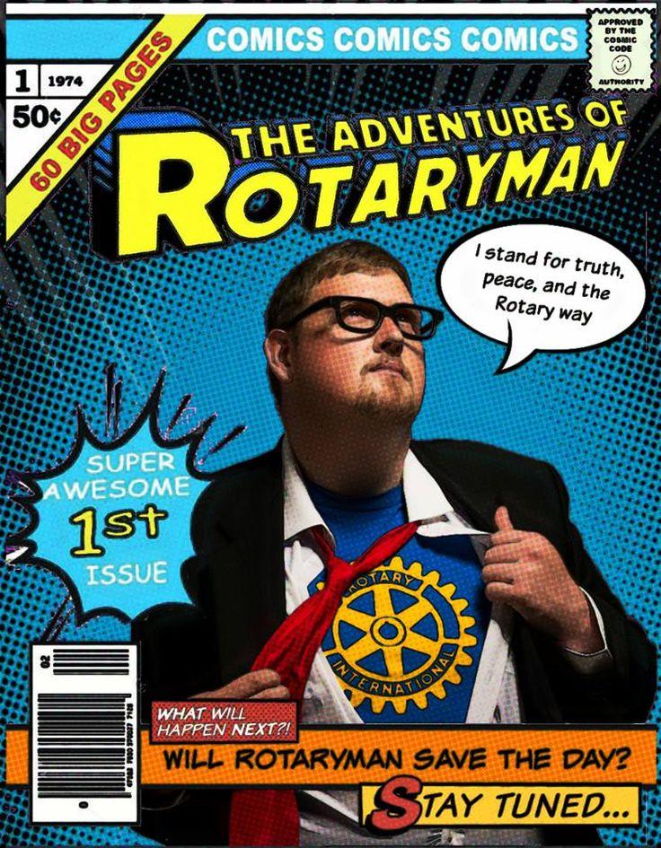 De avonturen van Rotaryman - mis ze niet!