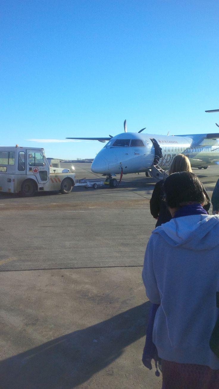 Boarding a Dash 8