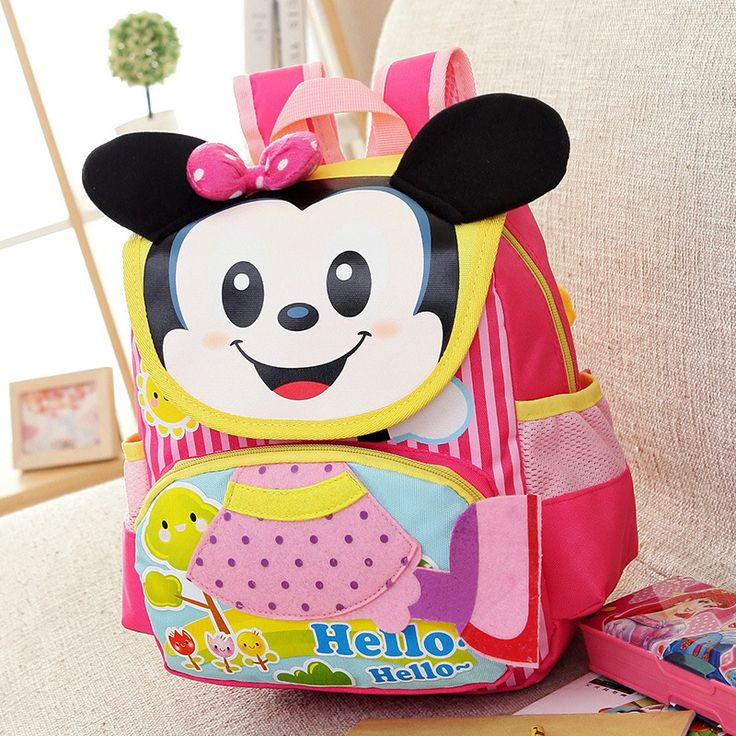 New Kindergarten Minnie School Bags Mickey Violetta Backpack Boys Girls Cartable School Backpacks Shoulder Bags Mochila Infantil
