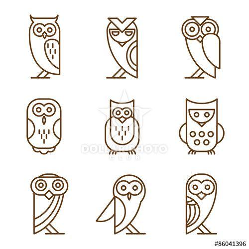 Set of Owl Logos and Emblems                                                                                                                                                                                 More
