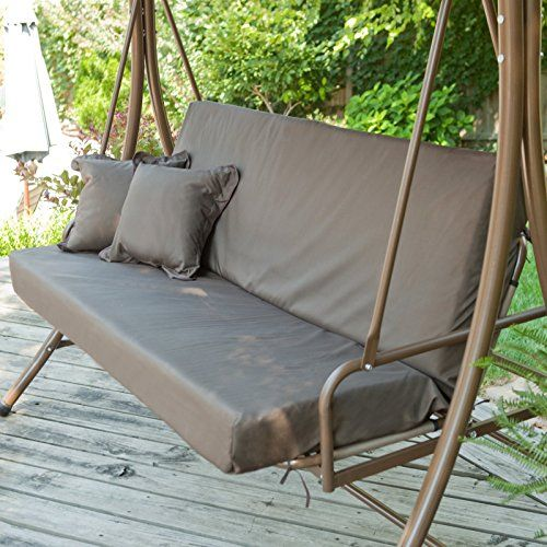 ❀In Stock Siesta 3 Person Canopy Swing Bed   Chocolate Size   X X Coral  Coast At SALE Patio Swing With Canopy