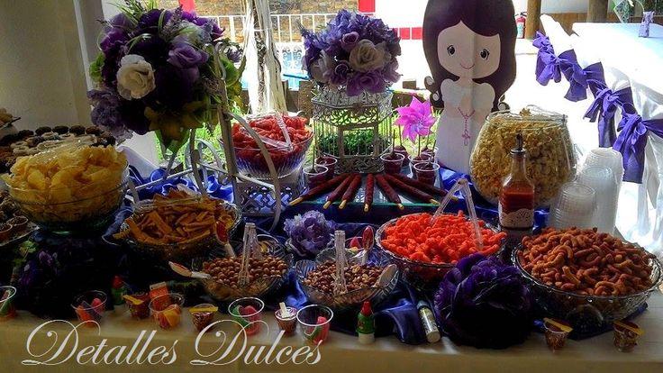 mesa sweet & sour con ricas frituras y tamarindos