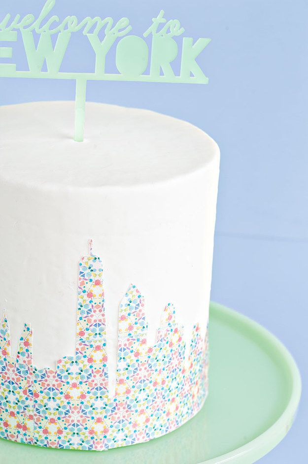 Featuring the NYC skyline made out of a kaleidoscope of loud heartbeats: | These Taylor Swift–Inspired Cakes Will Make You Wish It Was Your Birthday