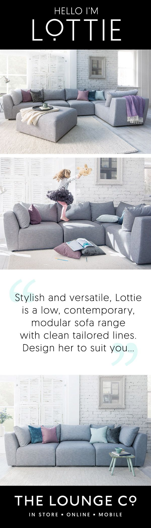 The Lounge Co. - Lottie Modular Sofa Range