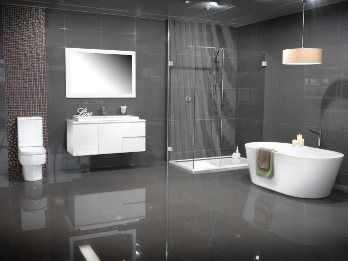 Grey Color Schemes For Bathrooms   Modern Gray Bathroom