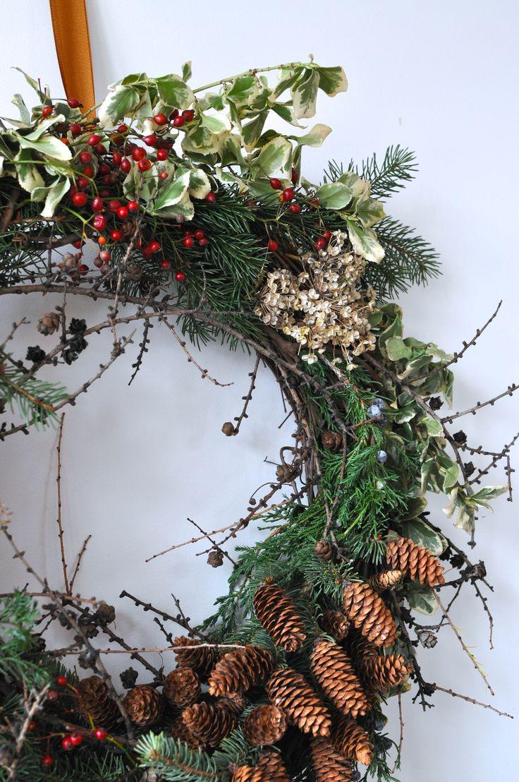 Foraged Wreath, Toronto farmer Florist, Ontario Wreath, Winter Wreath