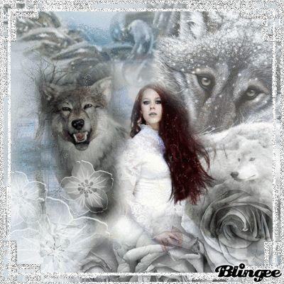 White wolf girl