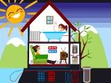 Aplicación de la energía geotérmica en una casa.  #renovables #energias #energiageotermica #geotermia