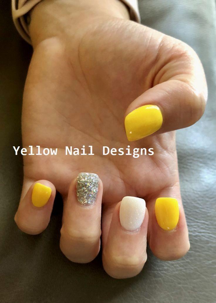 23 Great Yellow Nail Art Designs 2019 Nailideas Nailart Yellow Nails Design Yellow Nails Yellow Nail Art