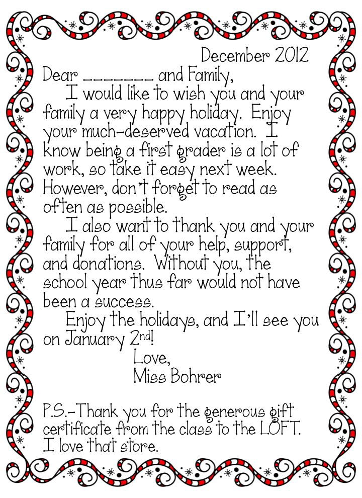 402 best education holiday images on pinterest craft kids kids erica bohrers first grade twas the week before christmas thank you letters spiritdancerdesigns Gallery