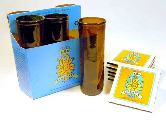Six Pack Set of Recycled Bell's Oberon Beer Bottle by nickpaul