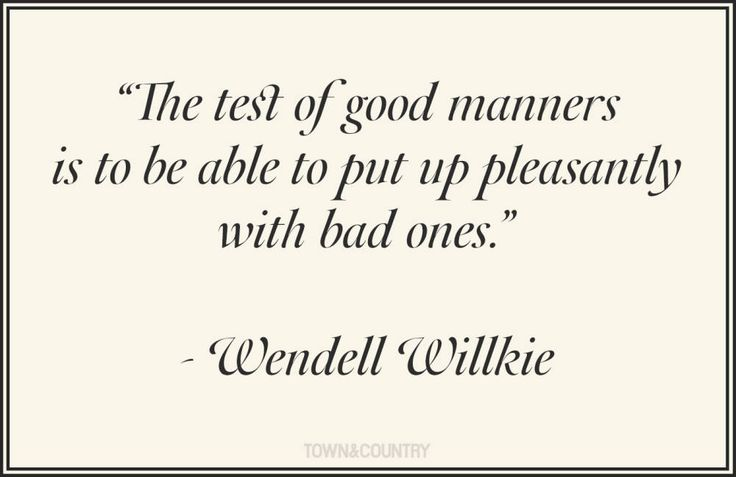 #quotes #manners