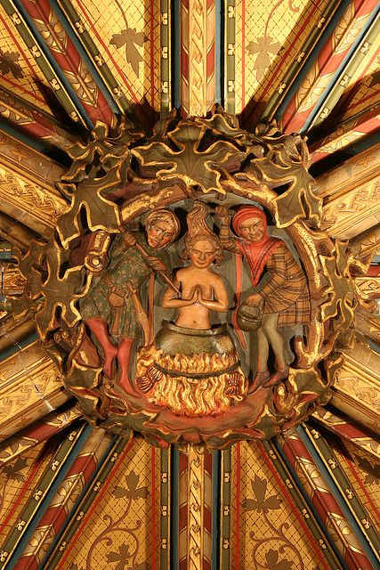 St Mary Undercroft: Roof Boss depicting St John | Flickr - Photo Sharing!