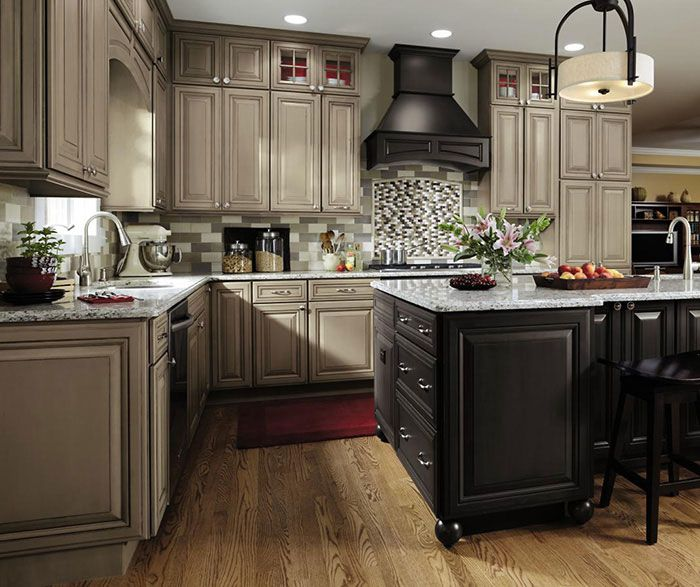 Image result for taupe cabinets