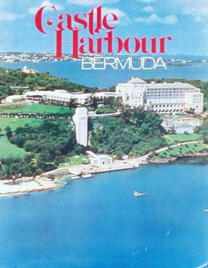 Bermuda Castle Harbour Original Travel Poster Date Ca 1980 23 X 33