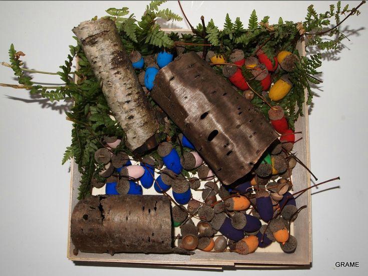 Une for t en couleur diy enfants gland peinture grame automne bricol - Pinterest bricolage recup ...
