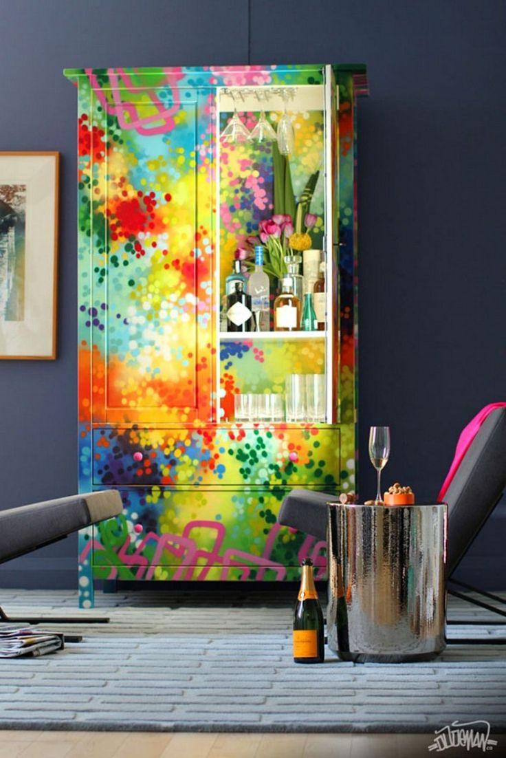 #Граффити в интерьере:)#декор мебели