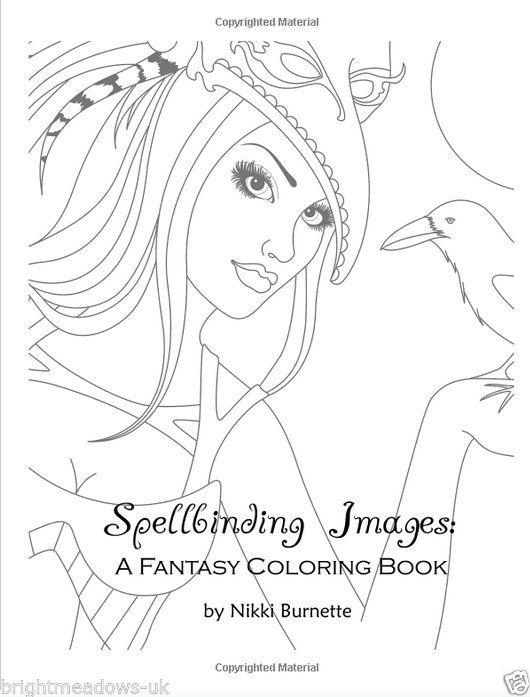 Spellbinding Fantasy Adult Colouring Book Fairies Mermaids Witches Vampires 20 2
