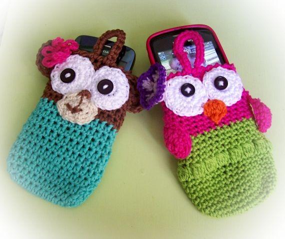 portacelulares divertidos - Crochet - Tejidos de Punto - 5232