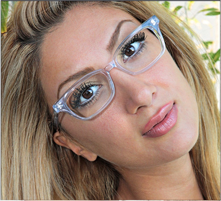 geek eyewear collection vintage style eyeglasses clear plastic womens frame ebay