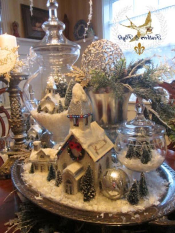 35 Creative DIY Chistmas Table Centerpieces Ideas Christmas