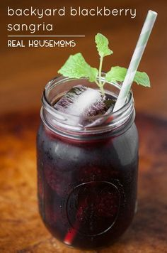 If you're looking for a fun and easy-to-make cocktail this summer for serving just one or a crowd, everyone will love this Backyard Blackberry Sangria!