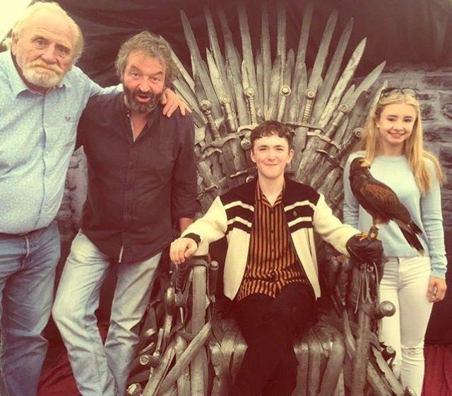 Game of Thrones: James Cosmo, Ian Beattie, Brenock O' Connor and Kerry Ingram (photo via Brenock's Instagram)