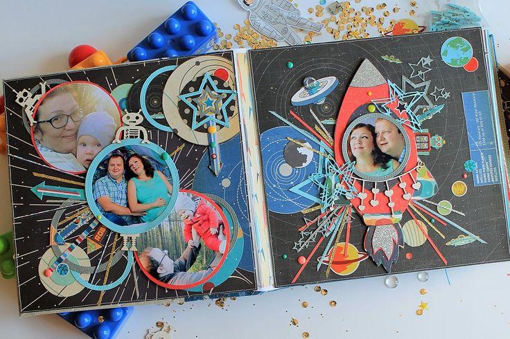 Космические открытки скрапбукинг, очень красивая день