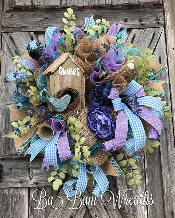 Spring Wreath Summer Wreath Summer Decor Summer Door