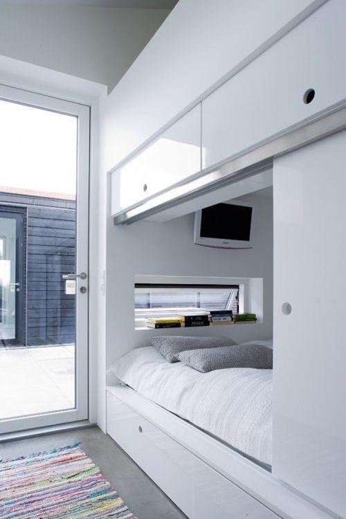 Kleine Schlafzimmer, Alkovenbett, Schrank Ideen, Wohnideen, Entwurf,  Bettwäsche, Bad, Schlafzimmer Ideen, Reihenhaus