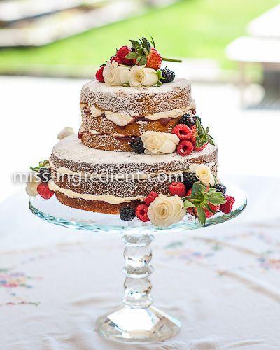 Wedding cake decorated with fresh fruit