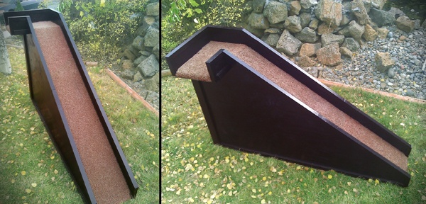 A custom dog ramp that can match your bedroom decor! Dog