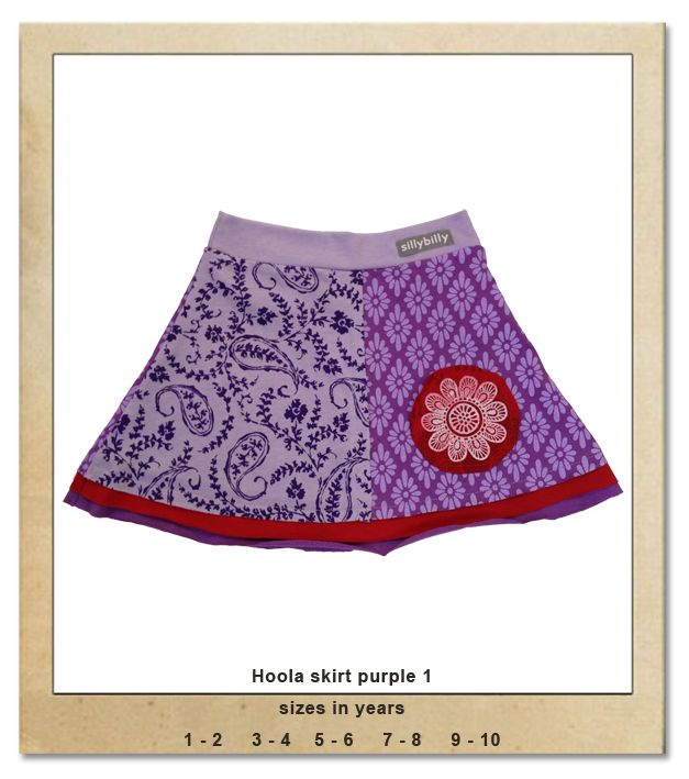 Sillybilly© clothing:  Hoola skirt purple 1