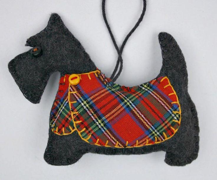 Scottie Dog Christmas Ornament, Dougal