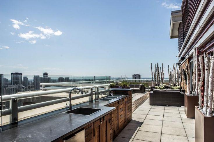 Outdoor Küche Gestalten : Outdoor küche gestalten in der großstadt auf dem dach unter freiem