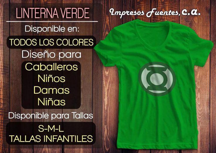 Franelas De Linterna Verde Todos Los Colores - Bs. 13.000,00 en Mercado Libre