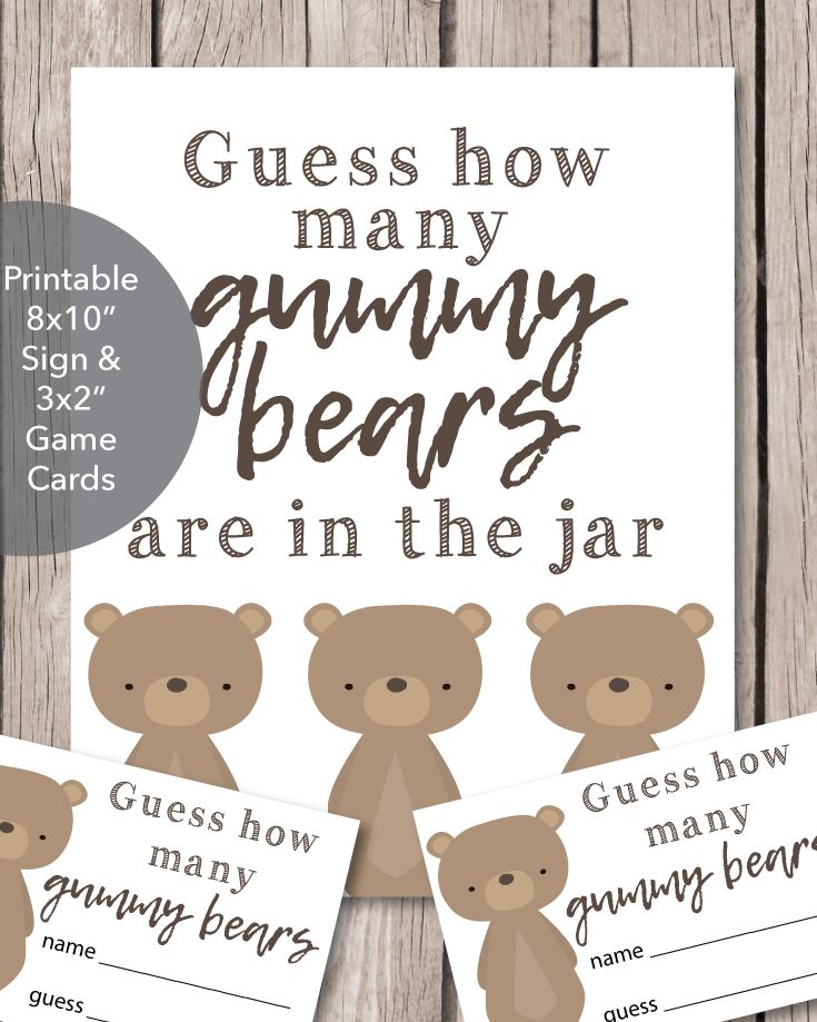 Woodland Animals Baby Babble Word Scramble Baby Shower Game