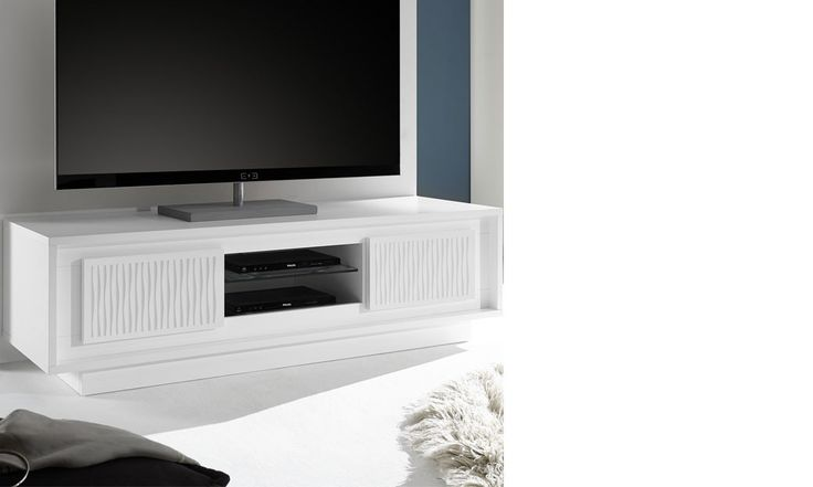 17 best ideas about meuble tv blanc laqu on pinterest meuble laqu blanc - Range cd blanc laque ...