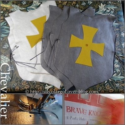 knight tabard tutorial (French) - use fake leather