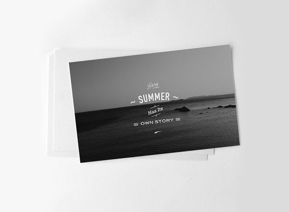 Black and white seascape photography summer quote by MessProject  #instantdownload #digital #etsy #messproject